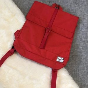 Herschel salmon compact skinny backpack stains